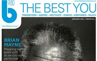 Magazine headline about Brian Mayne
